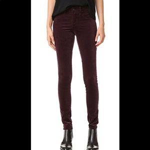 Rag & bone skinny Velour jean